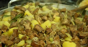 Coratella di agnello con le patate