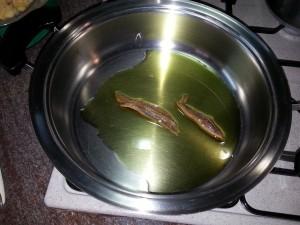 Pasta con i ceci alla palermitana - acciughe