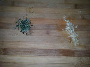 Pasta con i ceci alla palermitana - aglio e rosmarino